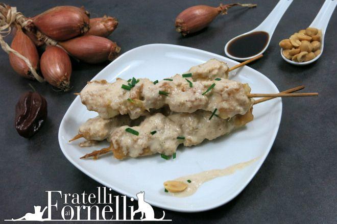 Satay di #pollo alle #arachidi: speziati spiedini secondo dall'isola di #Java - Fratelli ai Fornelli