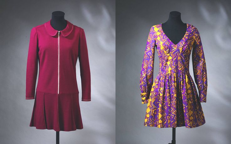 left minidress mary quant 1967 right minidress