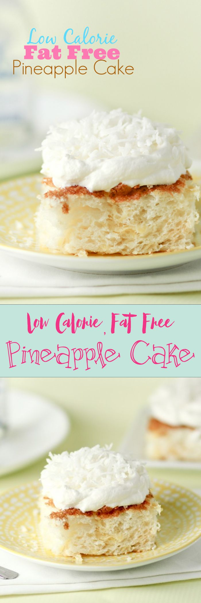 This cake is so yummy, it doesn't taste low calorie! I was shocked to love it -- I make it often, even when I'm not dieting.