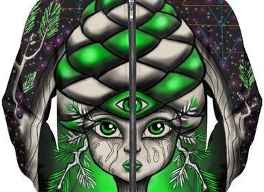 original fractal pine cone gothic girl design by arkane available here http://www.artscollective.space/shop/shop/page/2/
