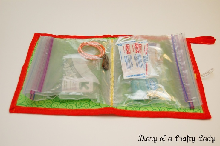 Diy Ziplock Bag Travel Kit First Aid Kit Sewing