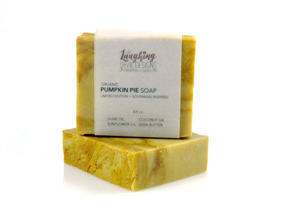 Pumpkin Pie Soap // Organic Ingredients // by LaughingDevilDesigns