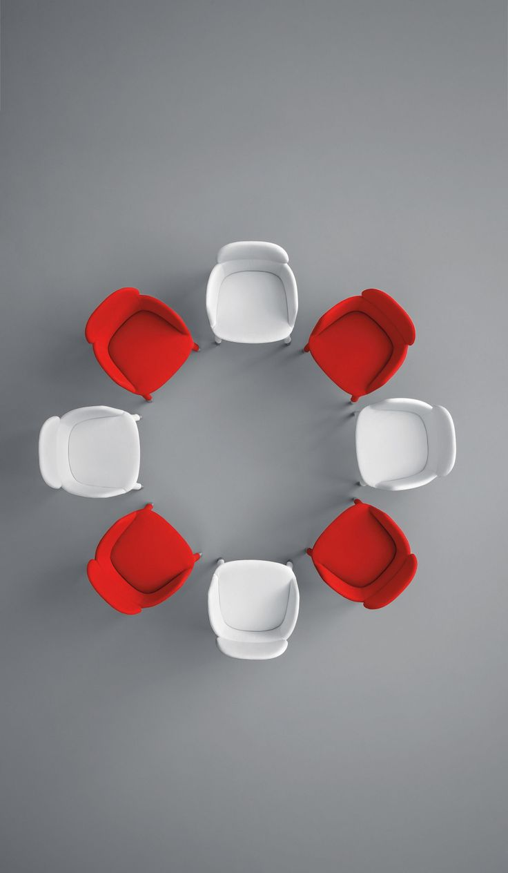 Ester Chairs From Top View White And Red Love It New