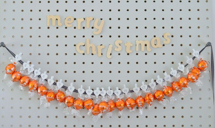 The Crazy Kitchen: Pegboard Advent Calendar Amazing Orange chocolate truffles by Lindt