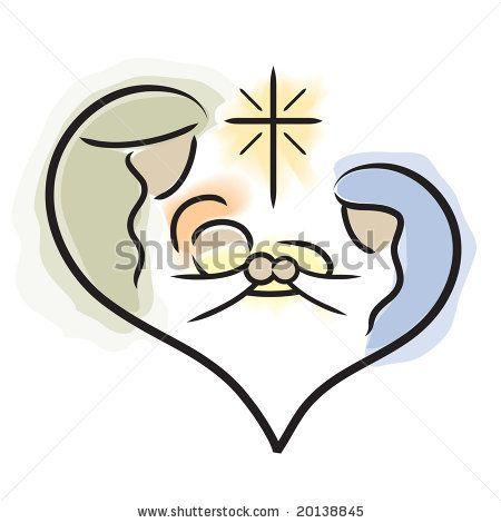 Vector Image Of Holy Family / Nativity - 20138845 : Shutterstock