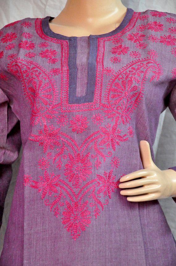 Purple Dress Summer gift for her romantic by KurtiTunicTopLucknow, $39.99