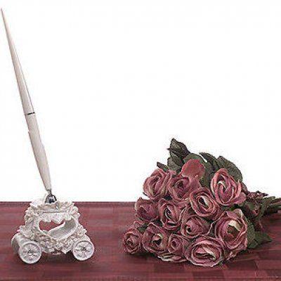 """Stylo et Porte Stylo Mariage """"Carrosse"""" par Un Jour Spécial : accessoires & décorations de mariage"""