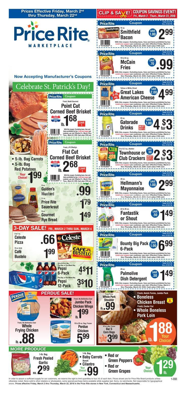 Price Rite ad March 2 - 22, 2018 - http://www.olcatalog.com/price-rite/price-rite-weekly-circular.html