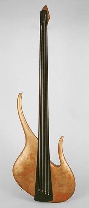 Pagelli bass. This instrument has no control knobs for a supposedly purer signal flow.