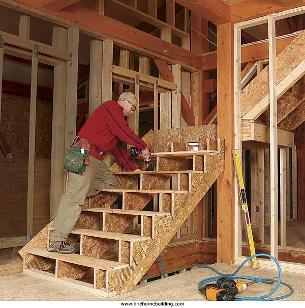 Framing Stairs With A Landing. An L-shaped Staircase Is