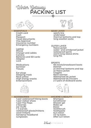 Your Downloadable Winter Vacation Packing List for Your Next Adventure
