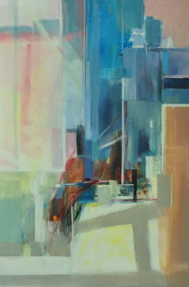 "Saatchi Art Artist June Forster; Painting, ""City Grid"" #art"