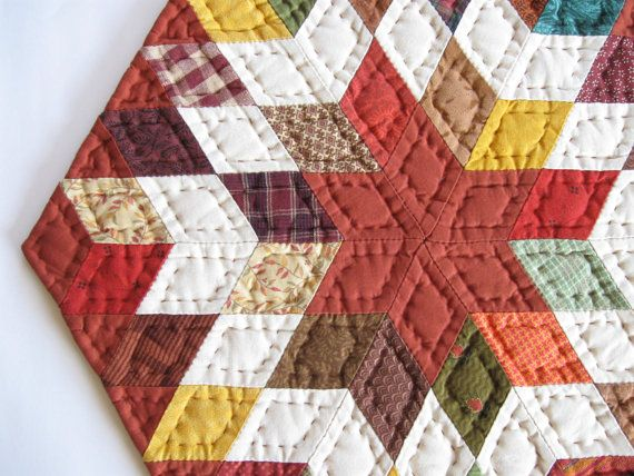 Quilted Table Topper for Fall