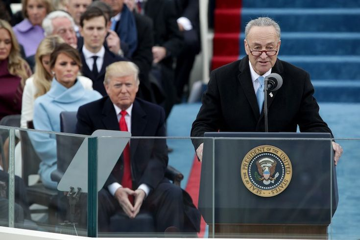 """Chuck Schumer, Leader of the Resistance, Keeps Approving Trump's Nominees New York's very own Chuck Schumer is the Senate Minority Leader, a position that ought to make him a leader of the political resistance to the Trump agenda. In media appearances, he's doing his best to sound the part. Trump is """"using populist rhetoric to cover up a hard-right agenda""""..."""