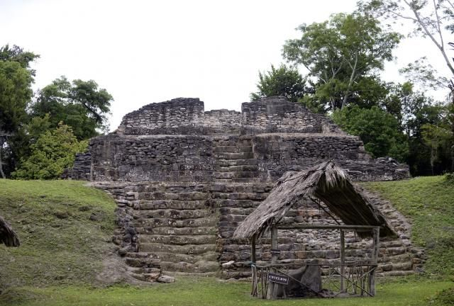 The Uaxactun archeological site, Uaxactun municipality, Peten department, some 570 km north of Guatemala City, on the border with Mexico and Belize, on November 28, 2014.