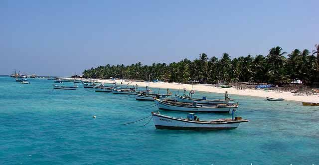 Kavaratti Island.  Known for its sandy white beaches with crystal blue waters and secluded lagoons. Watersports and swimming can be enjoyed at the beaches and is visited by a huge number of tourists.