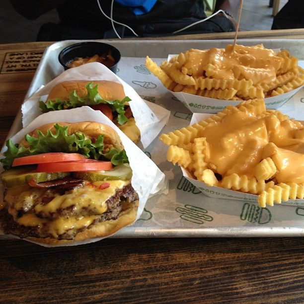 SHAKE SHACK   NYC - you will probably have to line up but the burgers and shakes are worth it!