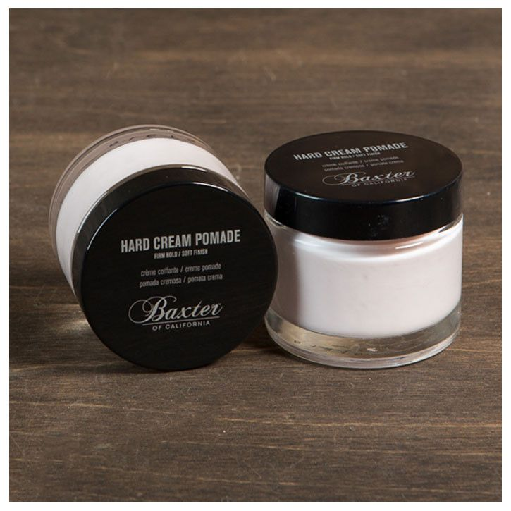 Hard Cream Pomade - Firm Hold & Natural Finish