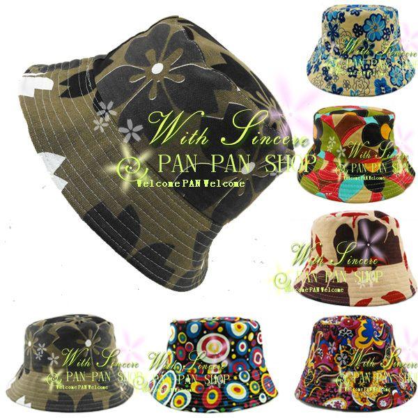 2014 New Unisex Floral Bucket Hat Boonie Hunting Fishing Outdoor Fisherman Cap Hip hop Summer Sun Hats For Women Men-in Bucket Hats from App...