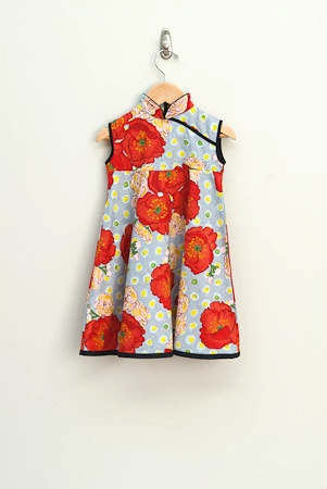 Poppy Mandarin Swing dress - Redfish clothing