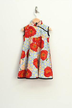 Poppy Mandarin Swing dress - Redfish clothing