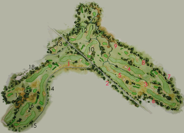Best Golf Architecture History Images On Pinterest Golf - Us open course map