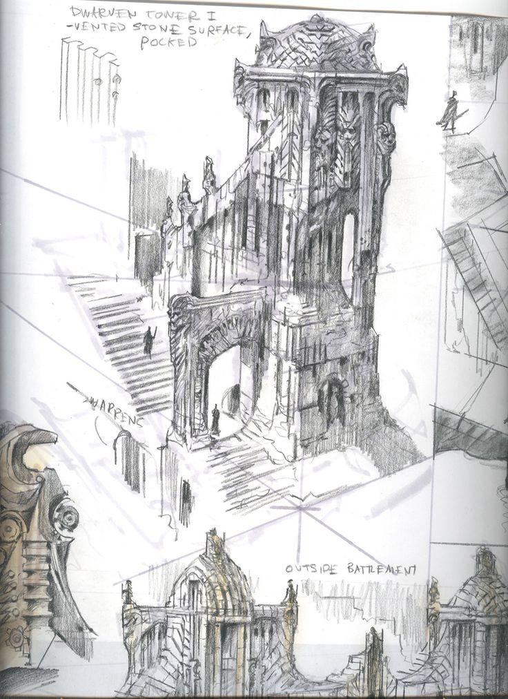 Skyrim architectural sketch