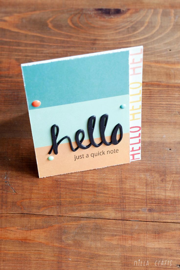 Hello, just a quick note ( July Simple Kit by Paperoamo ) #simplestories #summer #summervibes #cardmaking #averyelle