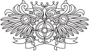 Steampunk Alchemy Double Headed Eagle design (UTH5177) from UrbanThreads.com