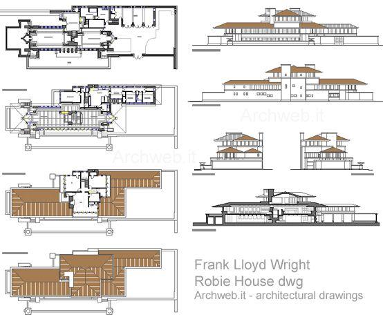 Robie House 2d F Lloyd Wright Arquitectura Desenhos