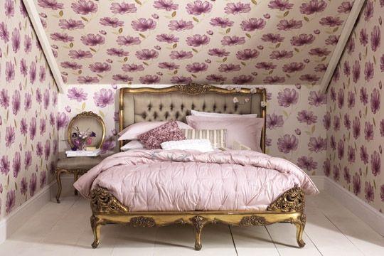 Les 25 meilleures id es concernant papier peint shabby for Papier peint chambre adulte romantique