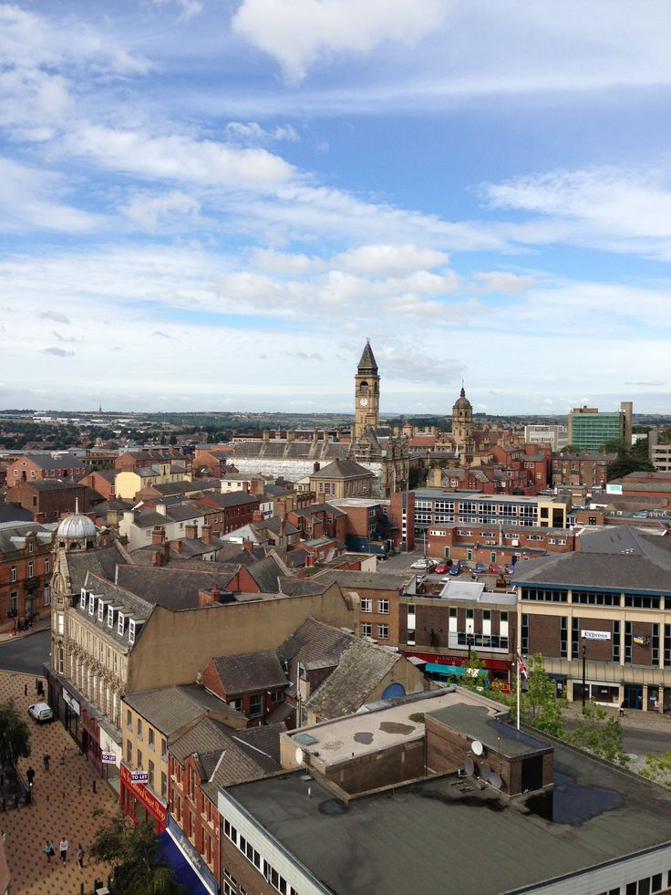 The view from the top of #Wakefield #Cathedral #Panoramic #TownHall