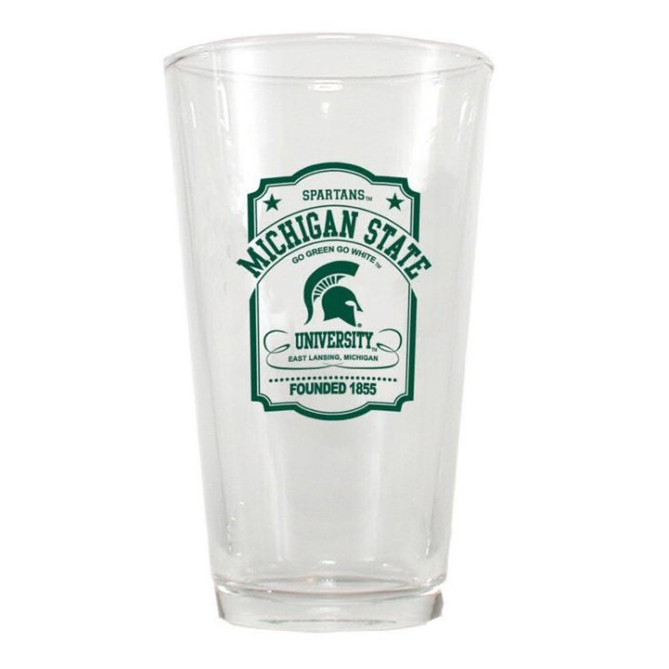 Michigan State 16 Oz Pint Glass | Spartan Bookstore