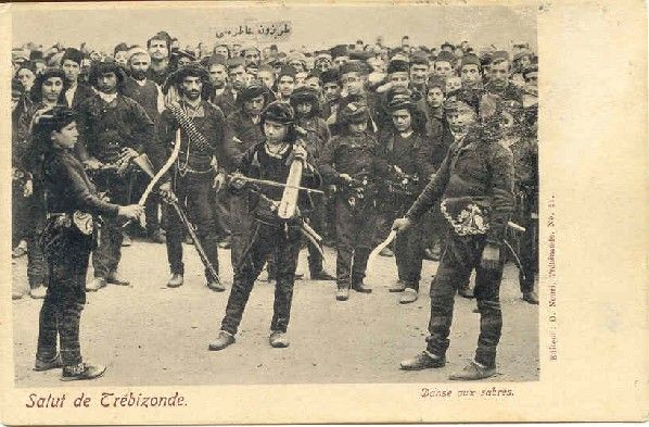 Traditional Anatolian war dance, dance of knives from Trebizond