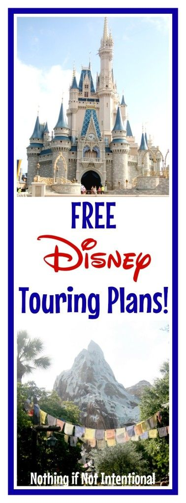 Sample schedules and touring plans to make Disney trip planning easier and less stressful!