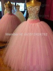 Online Shop Free shipping vestido de 15 anos de debutante PINK quinceanera dresses 2015 masquerade ball gowns vestido 15 anos festa STOCK|Aliexpress Mobile