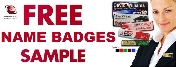 Claim a FREE sample name badge from Name Badges International!