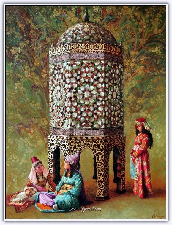 Ottoman Empire Paintings Ressam Kamil Aslanger ...