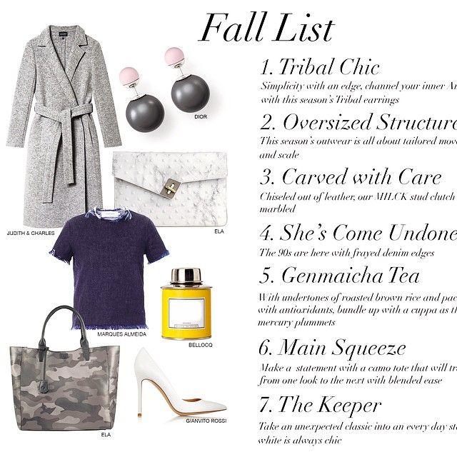 New on the blog our Fall wish list  www.ela-world.com #elahandbags @dior @judithncharles #judithncharles @bellocq @gianvitorossiofficial #marquesalmeida
