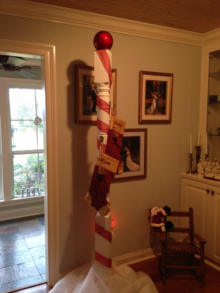 North Pole Stocking Holder For Our Grandkids Christmas
