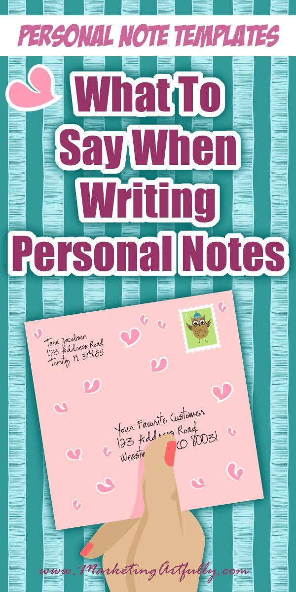 What To Say When Writing Personal Notes... Personal Note Templates ...