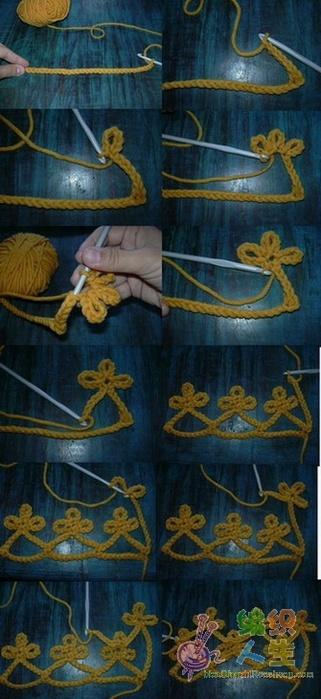 Modele de croșetat crochet modele Land ... Land ..: eșarfă șal-