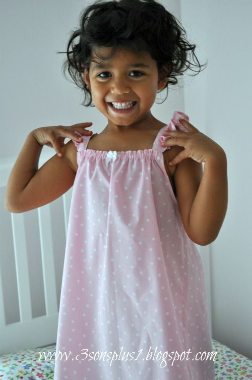 CELEBRATE!: Tutorial #2 for a Little Girl's Summer Nightgown...with EASIER Angel Wing Straps!!
