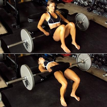 Blast your backside with the barbell hip thrust