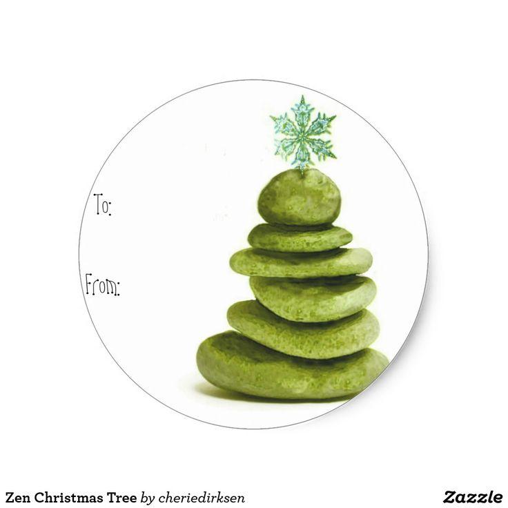 30% off this #BlackFriday2017 --- Zen #Christmas Tree Classic Round Sticker
