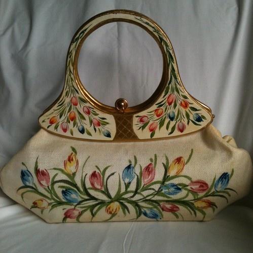VINTAGE Handpainted ITALIAN handbag