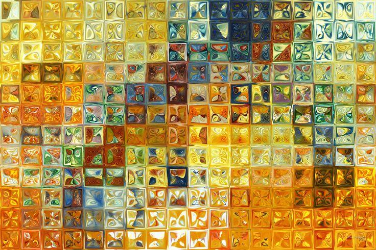 Original Modern Abstract Art | Tile Art Mosaic | Tile Art #6, 2012.  MarkLawrenceGallery.com