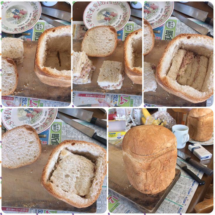 1斤サンドイッチ  わさびマヨコーンビーフンサンド