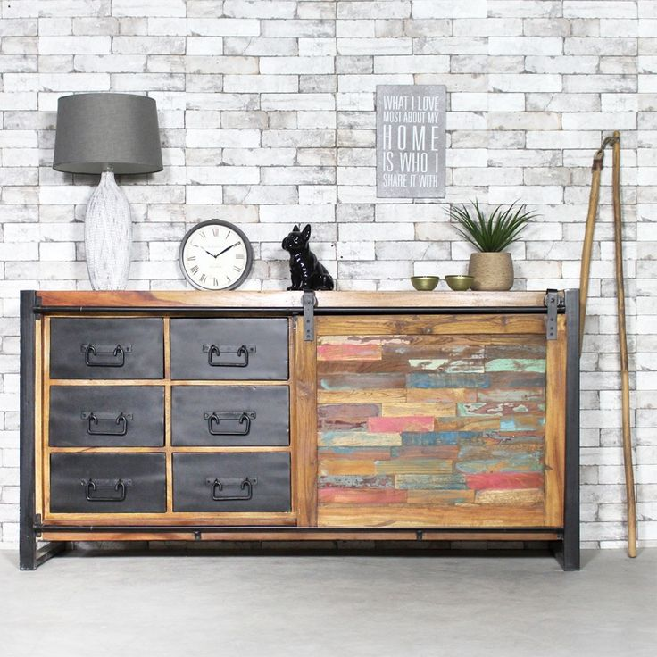les 20 meilleures id es de la cat gorie buffet industriel sur pinterest buffet metal buffet. Black Bedroom Furniture Sets. Home Design Ideas
