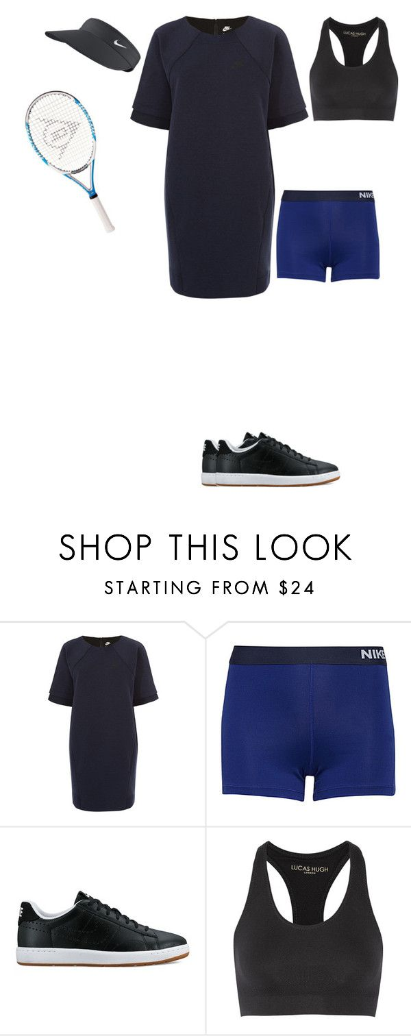 """""""PLAY TENNIS TODAY"""" by stylev ❤ liked on Polyvore featuring NIKE, Lucas Hugh and Nike Golf"""